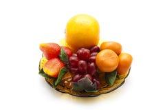 Frutas plásticas Imagenes de archivo