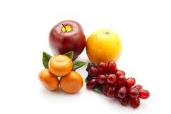 Frutas plásticas Imagen de archivo libre de regalías