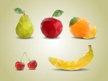 Frutas poligonales Foto de archivo libre de regalías