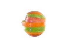 Frutas rebanadas mezcladas Imágenes de archivo libres de regalías