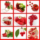 Frutas rojas Imágenes de archivo libres de regalías