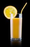 Frutas sabrosas del verano con el jugo en vidrio Fotografía de archivo