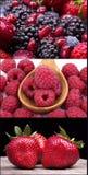 Frutas sabrosas del verano en una tabla de madera fotografía de archivo libre de regalías