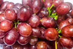 Frutas sanas, uvas maduras imagen de archivo