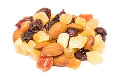 Frutas secadas aisladas Imagen de archivo libre de regalías