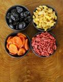 Frutas secadas clasificadas Imagenes de archivo
