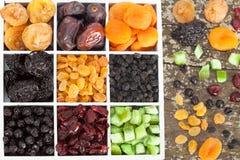 Frutas secadas clasificadas Foto de archivo libre de regalías