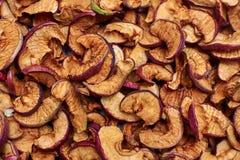 Frutas secadas das maçãs Fotografia de Stock