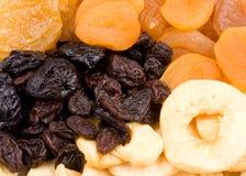 Frutas secadas fom del fondo Fotografía de archivo