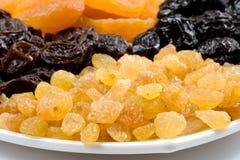 Frutas secadas fom del fondo Imagen de archivo libre de regalías