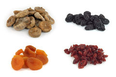 Frutas secadas isoladas fotos de stock