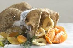Frutas secas e frescas no tempo de inverno Fotografia de Stock