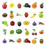 Frutas sonrientes felices ilustración del vector