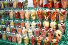 Frutas tailandesas seleccionadas preparadas Fotografía de archivo libre de regalías