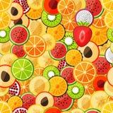 Frutas tajadas modelo inconsútil Fotos de archivo