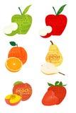 Frutas tipográficas Fotografia de Stock