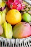 Frutas tropicais frescas Fotos de Stock Royalty Free