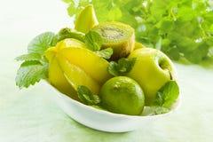 Frutas verdes imagens de stock