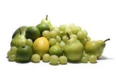 Frutas verdes isoladas no branco Fotos de Stock Royalty Free