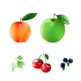 Frutas y bayas Imagenes de archivo