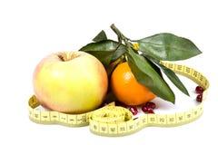 Frutas y dieta Imagen de archivo libre de regalías