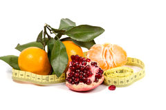 Frutas y dieta Imágenes de archivo libres de regalías