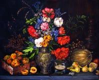 Frutas y flores Fotografía de archivo libre de regalías