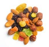 Frutas y nueces Fotografía de archivo