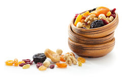 Frutas y nueces secadas Imágenes de archivo libres de regalías