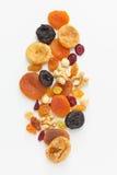 Frutas y nueces secadas mezcladas Foto de archivo