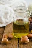 Frutas y petróleo del Argan Foto de archivo libre de regalías