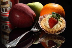 Frutas y postre Imagen de archivo