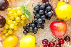 Frutas y primer maduros simulados de las bayas imagen de archivo libre de regalías