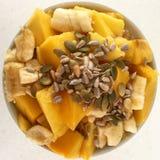 Frutas y semillas en un cuenco Imágenes de archivo libres de regalías