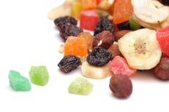 Frutas y tuercas secadas Imagen de archivo libre de regalías