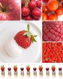 Frutas y vegeteables rojos Fotografía de archivo libre de regalías