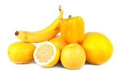 Frutas y verdura amarillas Fotografía de archivo