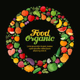 Frutas y verdura Cultivando un huerto, bandera de la horticultura Foto de archivo libre de regalías