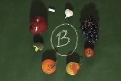 Frutas y verdura de la vitamina b Imágenes de archivo libres de regalías