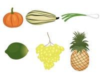 Frutas y verdura fijadas Imagen de archivo libre de regalías