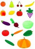 Frutas y verdura frescas stock de ilustración