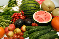 Frutas y verdura frescas Imagen de archivo