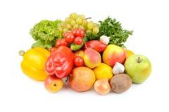 Frutas y verduras aisladas en el fondo blanco Fotografía de archivo
