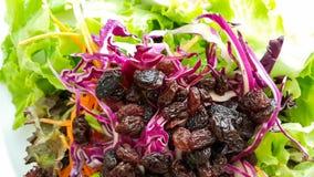 Frutas y verduras de la ensalada mezclada imagen de archivo