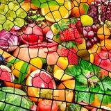 Frutas y verduras en marco en ala de la lib?lula de la forma fotografía de archivo libre de regalías