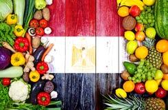 Frutas y verduras frescas de Egipto imágenes de archivo libres de regalías