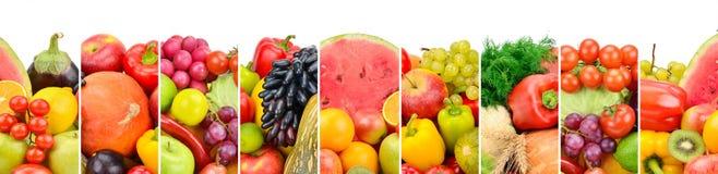 Frutas y verduras frescas de la colección aisladas en el backgro blanco imagen de archivo