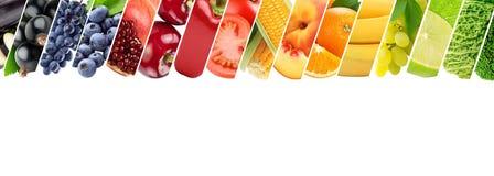 Frutas y verduras frescas del color Concepto sano del alimento fotos de archivo libres de regalías