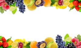 Frutas y verduras frescas del color Concepto sano del alimento Imagen de archivo