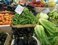 Frutas y verduras muy sanas foto de archivo